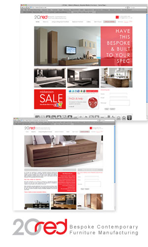 View 20 Red website project designed and built by Wolf Studios